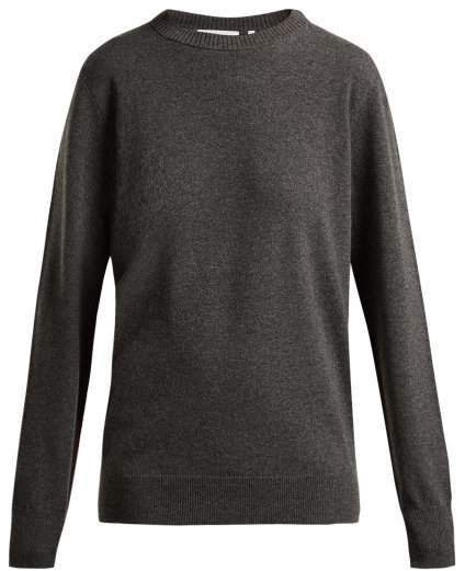 Helmut Lang Crew Neck Cashmere Sweater - Womens - Grey