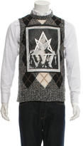 Givenchy Argyle Graphic Sweater w/ Tags