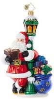 Christopher Radko Lighting His Way Santa Claus Ornament