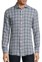 Luciano Barbera Plaid Casual Button-Down Shirt