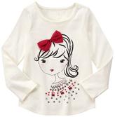 Gymboree Snow Bunny Girl Bow Tee - Girls