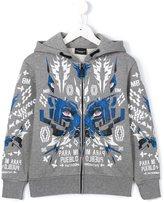 Marcelo Burlon County Of Milan Kids - graphic print hoodie - kids - Cotton/Polyester - 4 yrs
