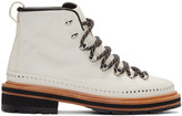 Rag & Bone White Leather Compass Lace-up Boots