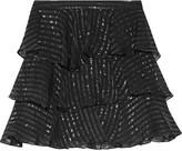 Pierre Balmain Ruffled silk-blend georgette mini skirt