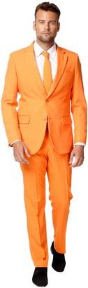 OppoSuits Men's Slim-Fit Solid Suit & Tie Set