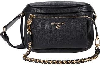 MICHAEL Michael Kors Slater Medium Sling Pack Messenger (Black) Handbags