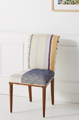 Anthropologie Elza Striped Dining Chair By in Blue Size ALL