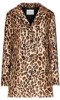 Velvet Celine Coat in Leopard Print