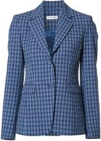 Altuzarra button up checked blazer