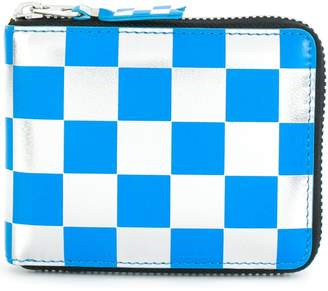 Comme des Garcons checkered zipped wallet