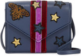 Cynthia Rowley Felix Bee Patch Crossbody Bag, Navy/Dark Red