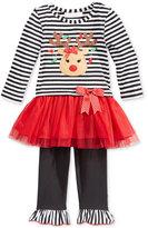 Bonnie Baby Baby Girls' 2-Pc. Reindeer Tutu Tunic & Leggings Set