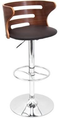 Wade Loganâ® Baehr Swivel Adjustable Height Bar Stool Wade LoganA Color: Brown