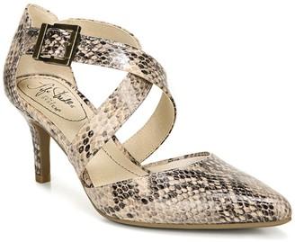 LifeStride See This Snakeskin Embossed Stiletto Sandal