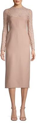 Valentino Lace-Panel Sheath Dress