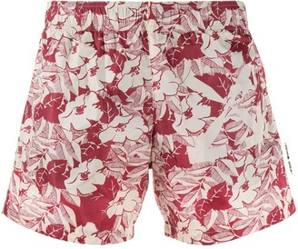 Off-White Floral Swim Shorts
