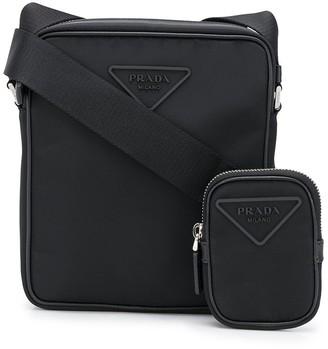 Prada Triangle Logo Messenger Bag