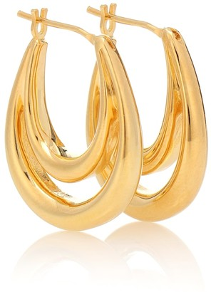 Sophie Buhai Large Blanche 18kt gold-plated hoop earrings