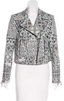 Camilla Leather Patterned Jacket