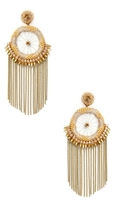 Deepa Gurnani Bead & Chain Statement Earrings