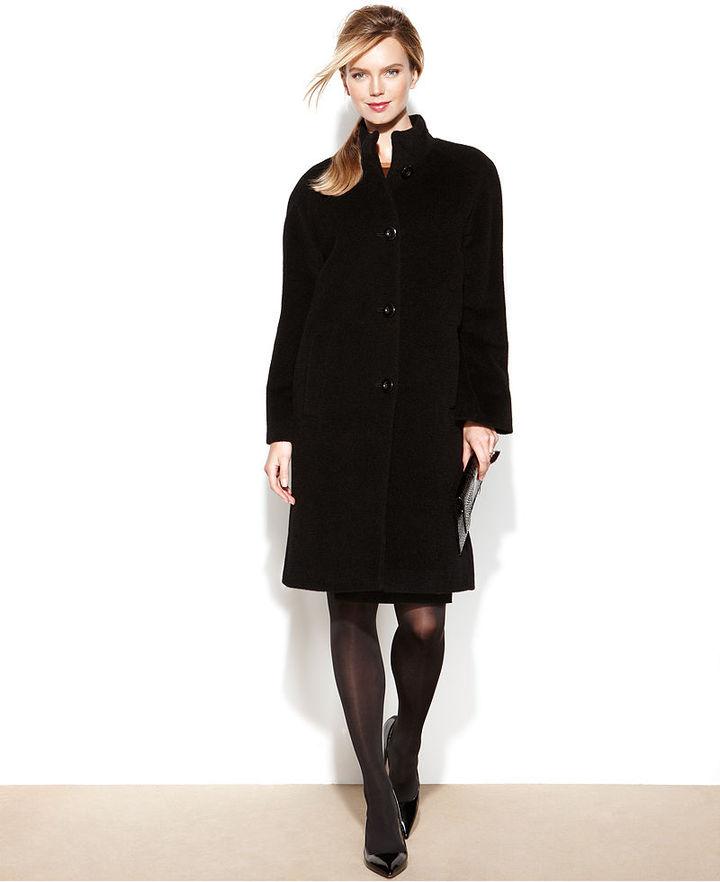 Jones New York Coat, Alpaca-Blend Boucle Walker