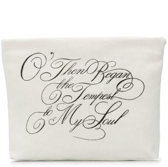 Ann Demeulemeester Slogan-Print Clutch Bag