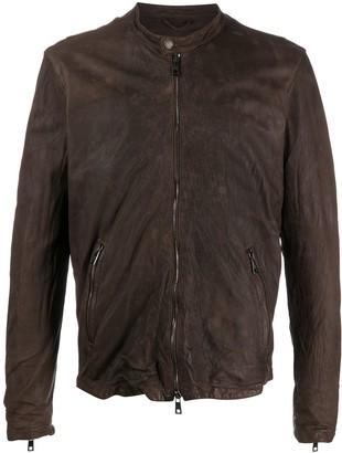 Giorgio Brato Crinkle Textured Leather Jacket