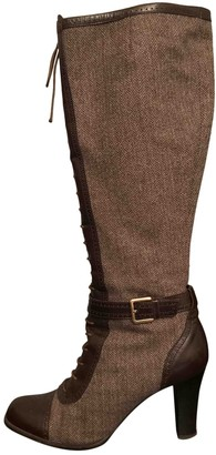 Bally Brown Tweed Boots