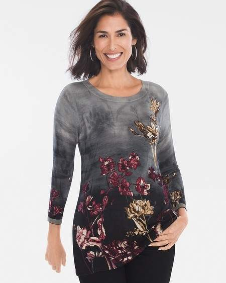 Chicos Graphic Floral Tunic
