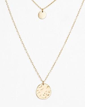 Aqua Helen Owen x Layered Disc Pendant Necklace, 16-22 - 100% Exclusive