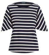 Ralph Lauren Jersey Cold-Shoulder Top Rl Navy/Natural Xl