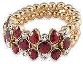 Carolee The Big Apple Beaded Goldplated Stretch Bracelet