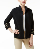 JM Collection Ribbed Grommet Jacket, Only at Macy's