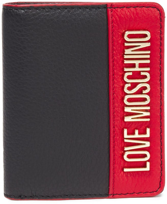 Love Moschino Logo-embellished Pebbled-leather Wallet