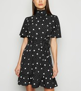 New Look Spot High Neck Mini Dress