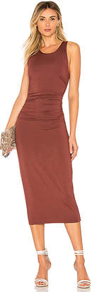 Enza Costa Matte Jersey Tank Midi Dress