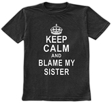 Urban Smalls Charcoal 'Blame My Sister' Crewneck Tee - Toddler & Boys