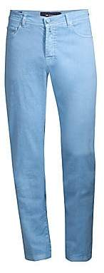 Kiton Men's Five-Pocket Linen-Blend Pants