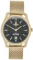 VIVIENNE WESTWOOD Men's Holborn Mesh Strap Watch- Gold