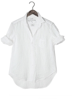 Frank And Eileen Womens Limited Edition Eileen Linen Tonal Dot Shirt