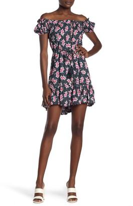 Tiare Hawaii Off-the-Shoulder Floral Print Dress