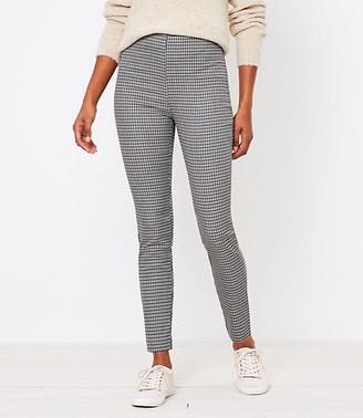 LOFT Petite Side Zip High Waist Skinny Leggings in Check