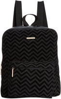 Rampage Chevron Printed Suede Backpack