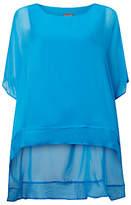 Phase Eight Monika Oversized Silk Blouse, Calypso Blue