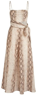 Zimmermann Bellitude Snake Print Dress