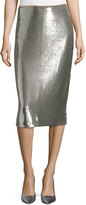 Diane von Furstenberg Sequined Midi Pencil Skirt