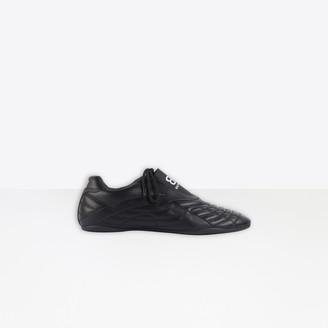 Balenciaga Zen Sneaker in black and white matt technical polyurethane