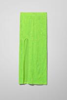 Thumbnail for your product : Weekday Adriana Velvet Skirt - Green