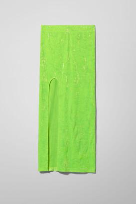 Weekday Adriana Velvet Skirt - Green