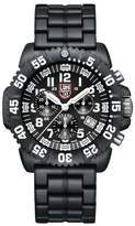 "Luminox Navy SEAL Colormark Chronograph"" Black/White PC Carbon Bracelet Watch"